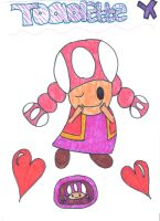 Toadette by Toad-x-Yoshi-x-Peach
