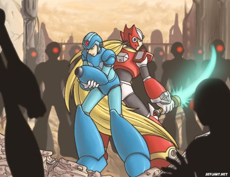 Megaman X and Zero by Speeh