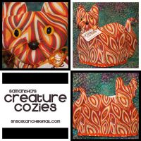 Cat - Teapot Cosy 02 by AngelSamui