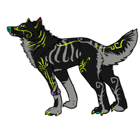 Chibi wolf- design by Novie-Kenari