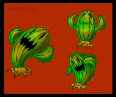 Zombie Cactus by LaughingSkeleton