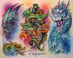 Blade Dragon by Artistic-Tattooing