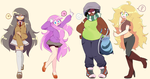 OH hey look it's my OCs updated hehe by MisterCakerz