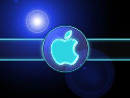 Apple lighted by WolfvanWhite