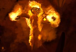Balrog speed painting 2 by DiegoKlein