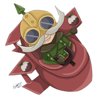 Advent day 18 - LoL - Corki by amber-enigma