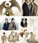 supernatural doodles by kaiser-mony