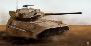 Light Hover tank by John-Stone-Art