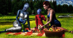 Family Picnic by BarbDBarb