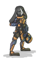 Mando Bunny - Sans Background by bardic-fire