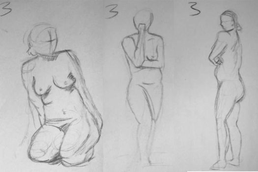 Figure Drawings 1 by ChaosShattered