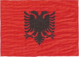 Hand-drawn flag of Albania by cool1097