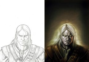 Geralt_Pencils and Colors by gastonzubeldia