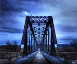 Old Train Bridge Front - HDR by Torqie