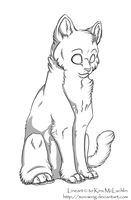 Free Lineart: Kitty by Sun-wing