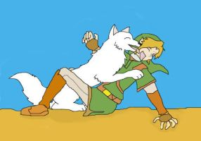 Link meets Ammy by DivinefirstOuka