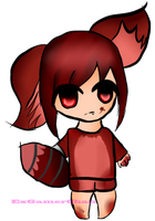 :Commission: Foxy in girl form by ExGamerChan
