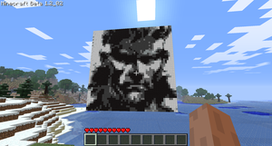 Minecraft Art - Solid Snake by SuperDouma