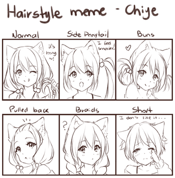 Hairstyle meme - OC Chiye by Hyan-Doodles