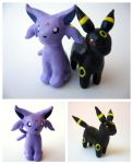 Espeon + Umbreon by unistar2000