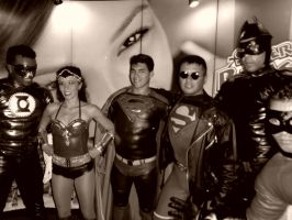 Superboy and Justice League by eriksuperboy