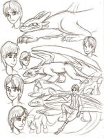 HTTYD sketches by Ravenfire5
