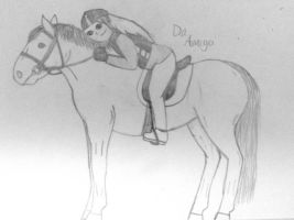 Horse and this rider by DaAmico
