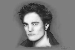 Retrato de Robert Pattinson by VeildarK