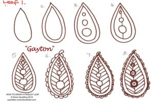 How to draw Paisley Leaf 01 Gayton by Quaddles-Roost