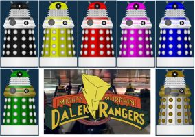 Mighty Morphin Dalek Rangers by DoctorWhoOne
