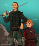 GoT Anime Style  Fan Art Tyrion and Bron by JazylH