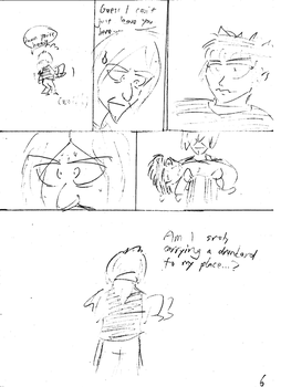 Unnamed comic Page 6 rough draft by C-Survive