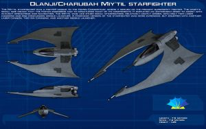 Hapan Miy'til starfighter ortho [New] by unusualsuspex