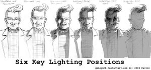 Six Key Lighting Positions by GenoPunk