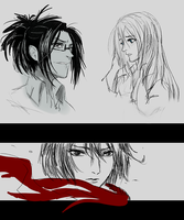 Shingeki no Kyojin_sketches by X-Zelfa