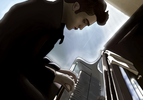 Edward Cullen, Solemn Composer by Naomeart