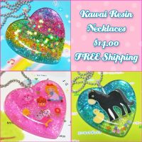 Sparkly Resin Necklaces by bapity88