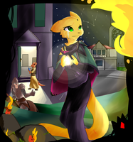 Yellow Cat Path by Snakely-Alpha