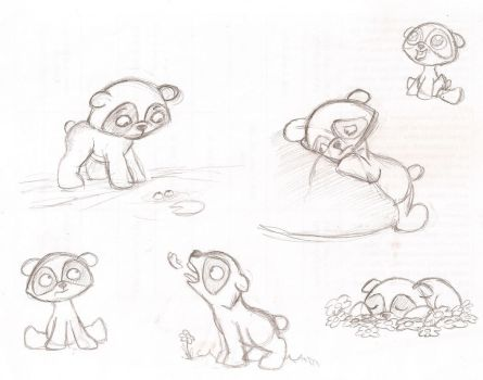 Some Ginger Bear sketches by Suahkin