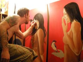 Me Painting Triplets by pisopez