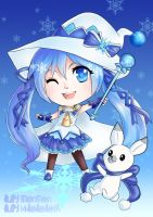 Snow Miku 2014 chibi by July-MonMon