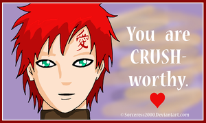 Valentines Day Card : Gaara by Sorceress2000