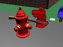 Fire Hydrant with a Shotgun by mikeburnfire