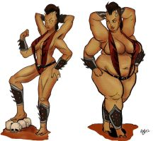 Sheeva Before and After Commission by TheAmericanDream