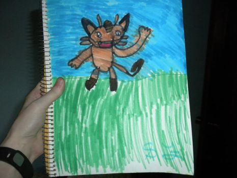 Meowth Drawing by Flynnster-4590