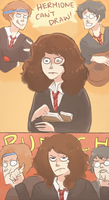 AVPS: HAHA HERMIONE CAN'T DRAW by Randomsplashes