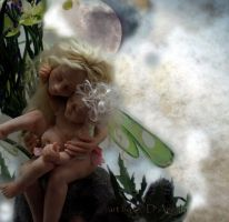 Mother and child fairy OLD by cdlitestudio
