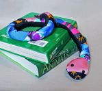 Pink Patchwork Book Sock Snake! by Madelei
