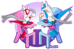PokePadded - Latios and Latias (Commission) by the--shambles
