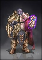 Marvel Thanos Fan Concept Art by Legacy666legacy